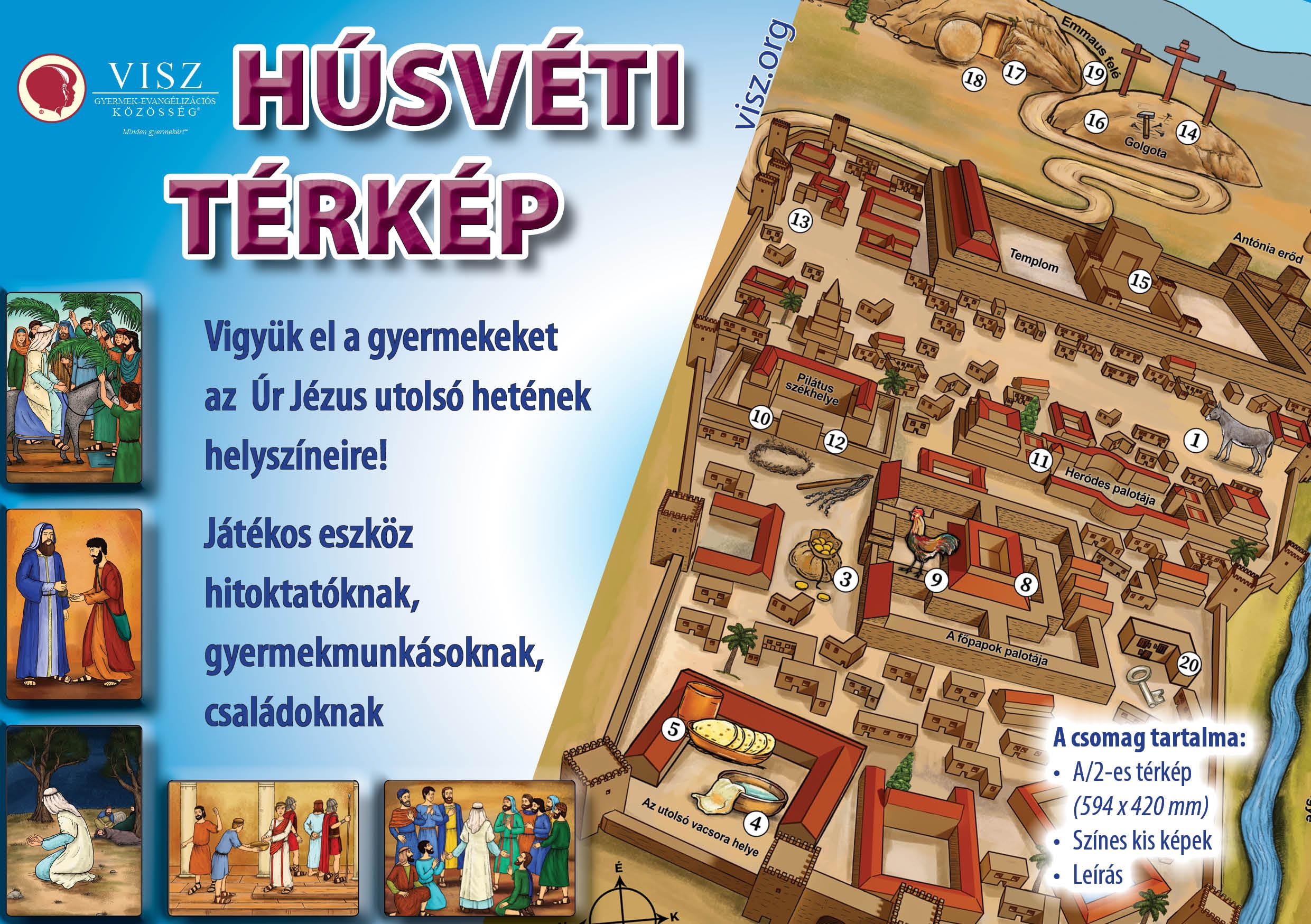 Húsvéti térkép Reklám
