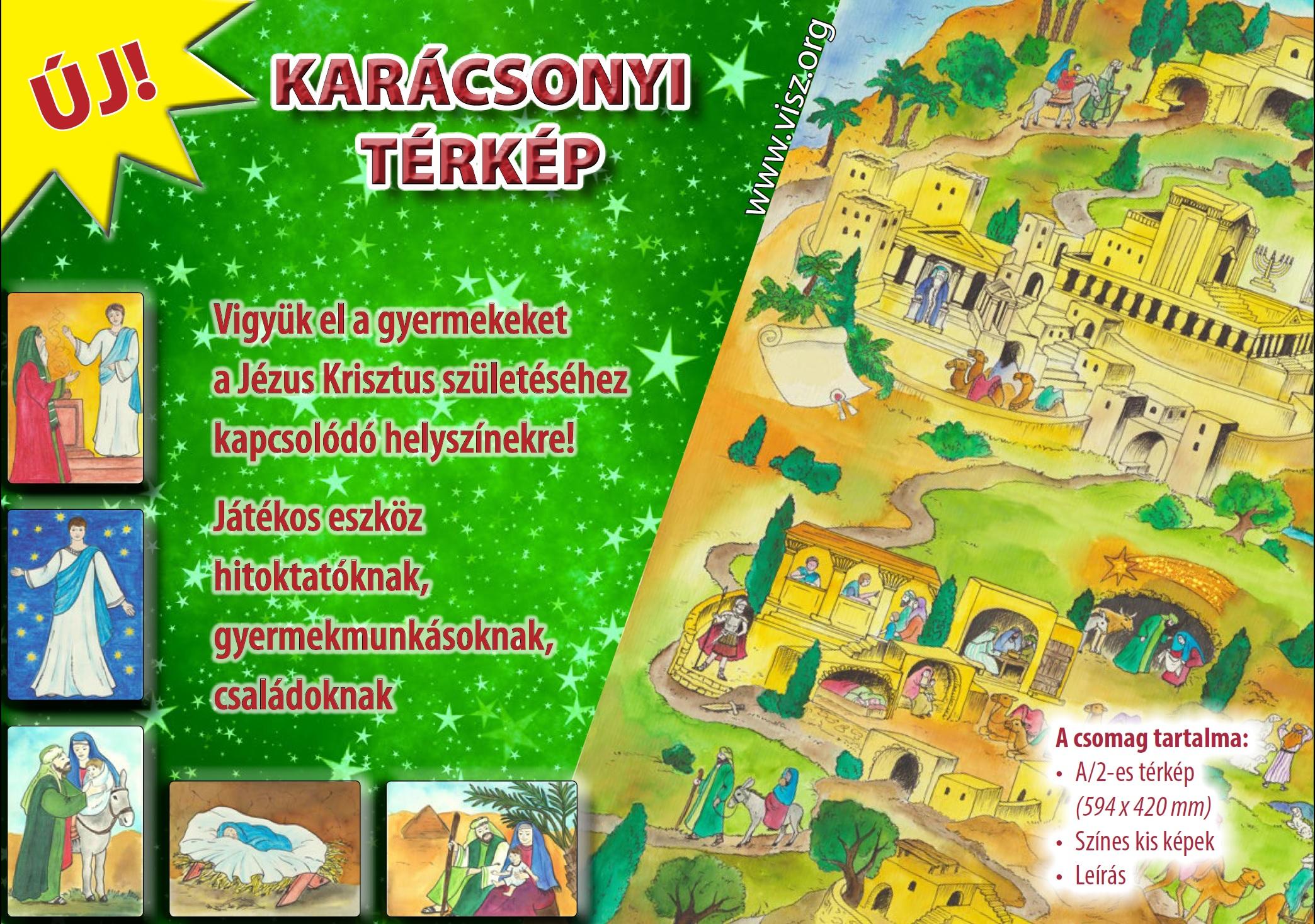 Karácsonyi térkép reklam