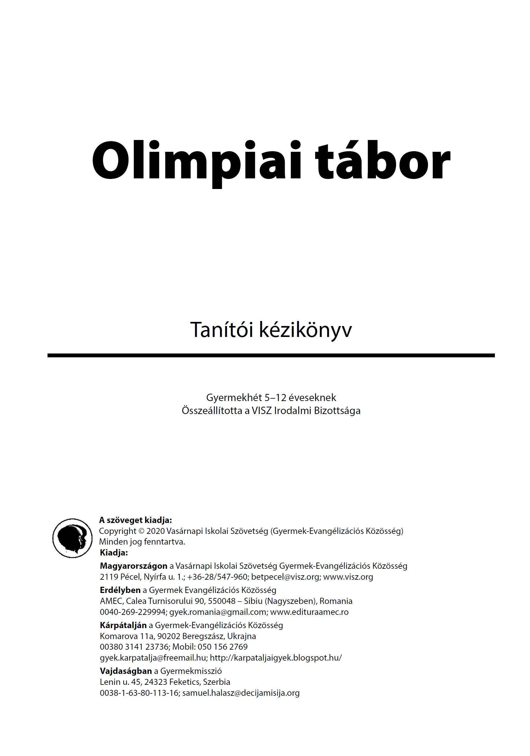 Olipiai tabor 2020 szvgk